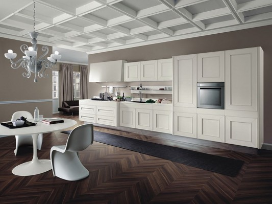 white melograno classic contemporary kitchen design