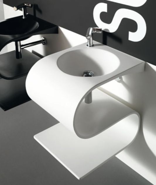 Kitchen Interesting Kitchen Sink Design With Cool Top: Ultra-Modern Sink With Contemporary Design, Senolo Io By