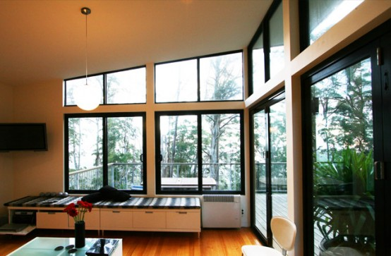 wide windows on paroblematic house