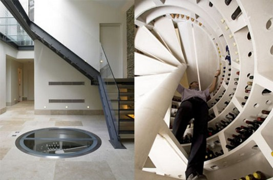wine cellar watertight with ingenious system of air flow