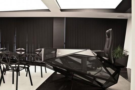 wonderful futuristic metal furniture design | Hybrid Office Conference Table and Desk Futuristic Design ...