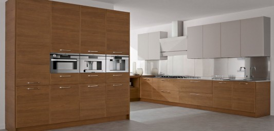 wooden and lacquered kitchen cabinet modern design