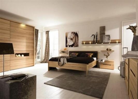 wooden bedroom furniture set stylish design