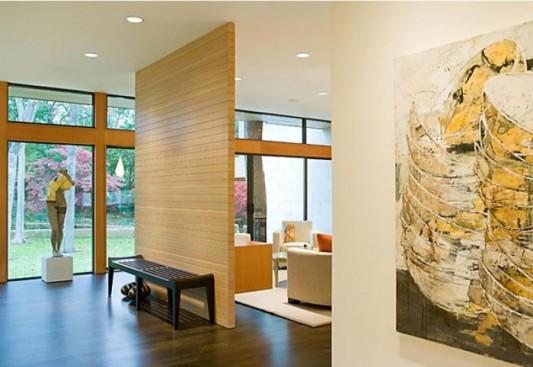 wooden cottage interior partition ideas