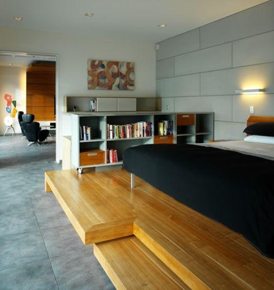 wooden deck feigin apartment bedroom
