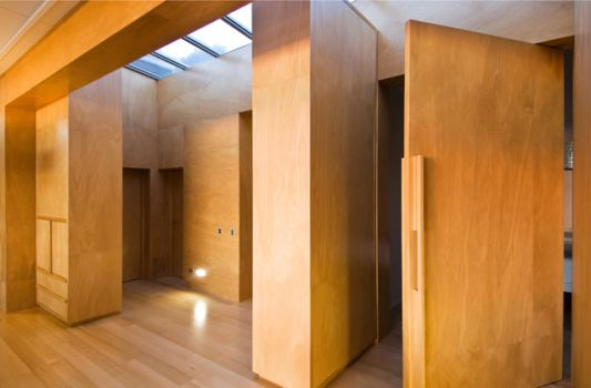 wooden interior design raumati beach house