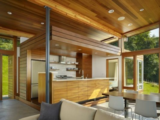 wooden kitchen beach house design
