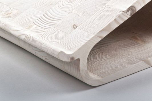 wooden laptop stand by Lesha Galkin