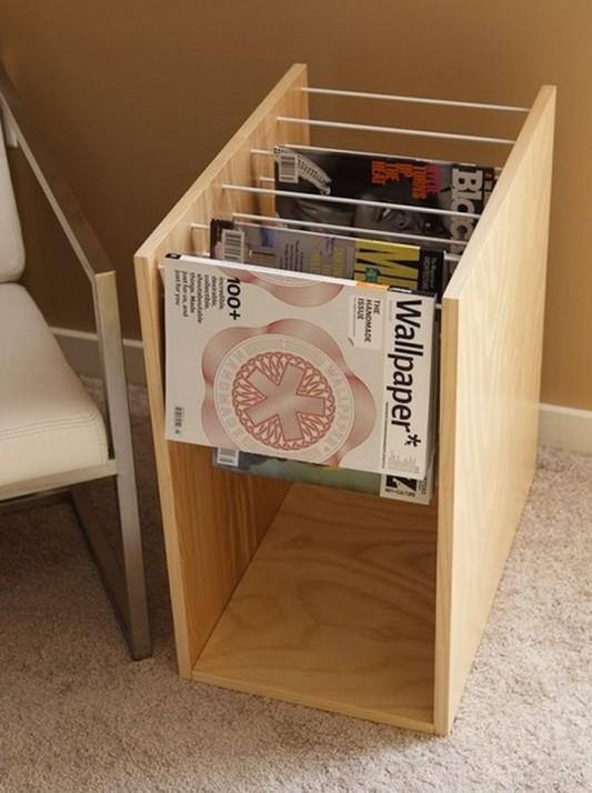 wooden simple magazine racks design