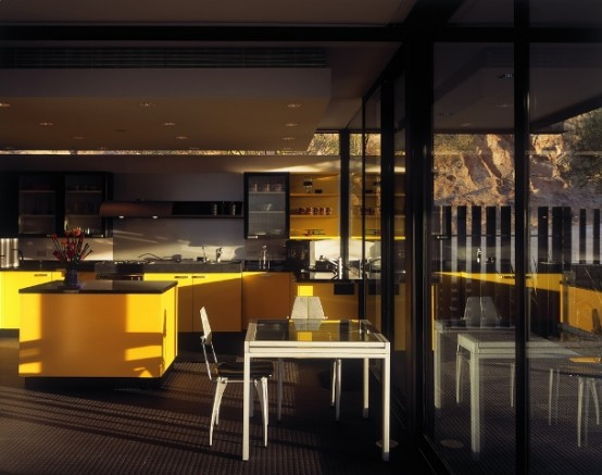 yellow kitchen concept ideas with furniture