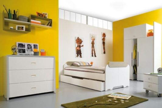 yellow room color be bop furnitur
